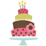 Icon of a colourful cake