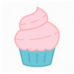 Icon of a pink-blue cupcake