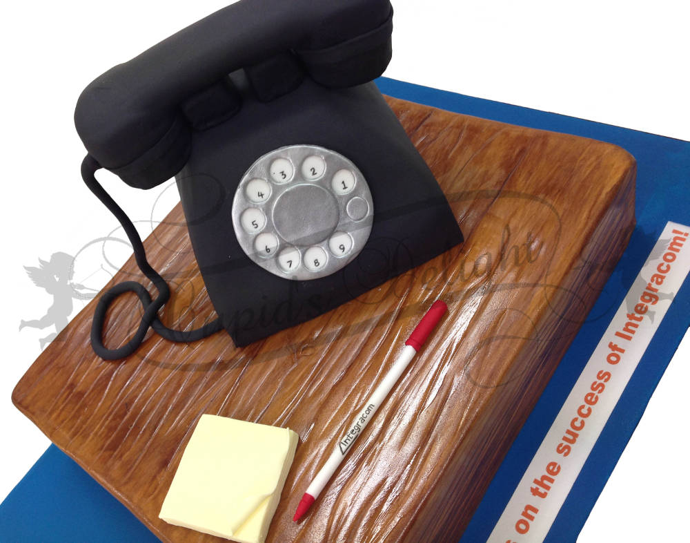 Telephone Corporate Cake