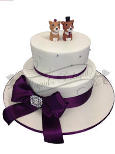Cake with dog toppers